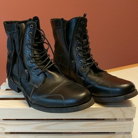 90820c66583 Steve Madden SIDDHARTH black leather men's boots